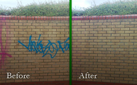 graffiti removal with gamma butyrolactone
